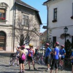 Exploring old Budapest by bike