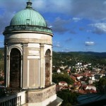 View from giant cathedral in Esztergom