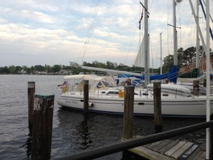 The harbor at the Intracoastal  in Elizabeth City