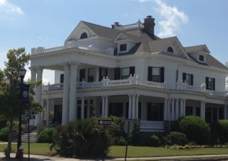 A grand mansion in downtown