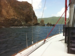 Bare-boating in the British Virgin Islands - you won't need much luggage!
