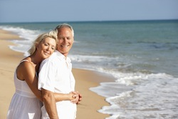 village-attractive mature couple on beach