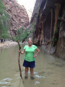 "Jan in ""The Narrows"" at Zion National Park"