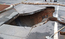 Sinkholes and water shortages