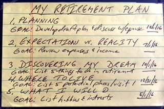 The 3 x 5 card retirement plan