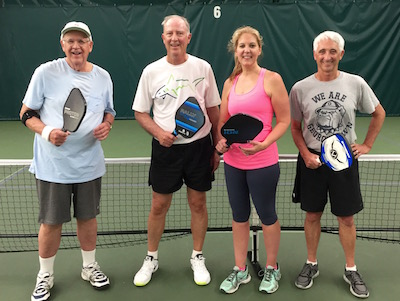 Your editor's new Pickleball Friends at Guilford (CT) Racquet and Swim Club