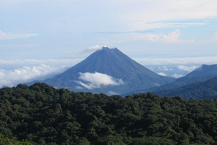 Arenal Volcano courtesy of Wikipedia and Peter Andersen